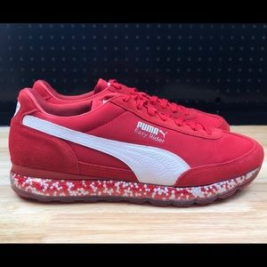 b08d071d4a5 Puma Shoes - Men s New Puma Jamming Easy Rider Red White Suede